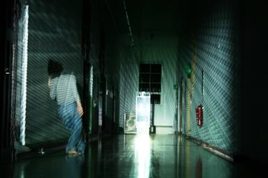 Tanz Medieninstallation Weimarer Dreieck Bauhaus Uni August 2011 Foto Copyright Angela Henkel